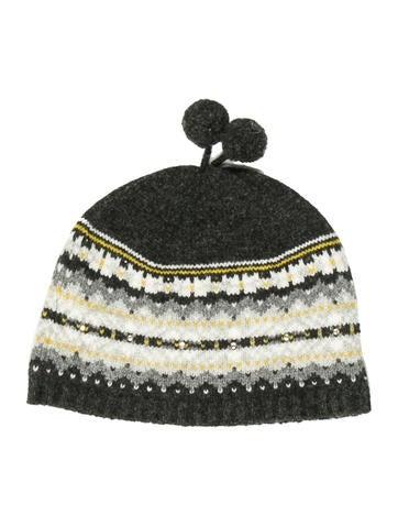 Bonpoint Girls' Wool Embellished Beanie None