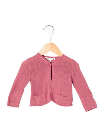 Bonpoint Girls' V-Neck Rib Knit Cardigan None