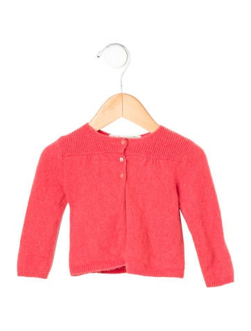 Bonpoint Girls' Cashmere Rib Knit Cardigan None