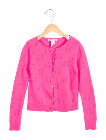 Bonpoint Girls' Cashmere Cherry Cardigan w/ Tags None