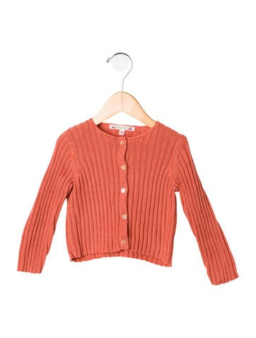 Bonpoint Girls' Rib Knit Button-Up Cardigan None