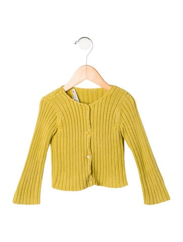 Bonpoint Girls' Rib Knit Button-Up Cardigan None