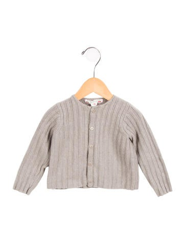 Bonpoint Girls' Button-Up Wool Cardigan None