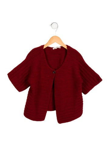 Bonpoint Girls' Knit Short Sleeve Cardigan None