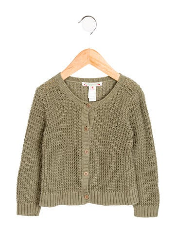 Bonpoint Girls' Knit Crew Neck Cardigan None