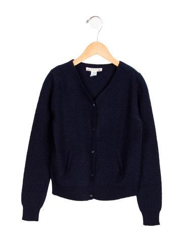 Bonpoint Girls' V-Neck Wool Cardigan