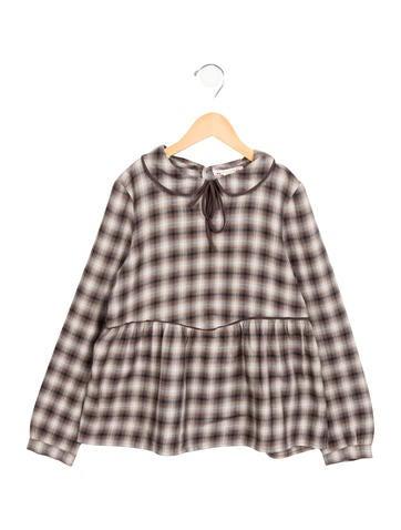 Bonpoint Girls' A-Line Plaid Patterned Dress