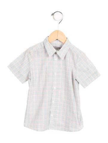 Boys' Patterned Button-Up Shirt