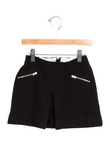 Bonpoint Girls' Wool Pleated Skirt