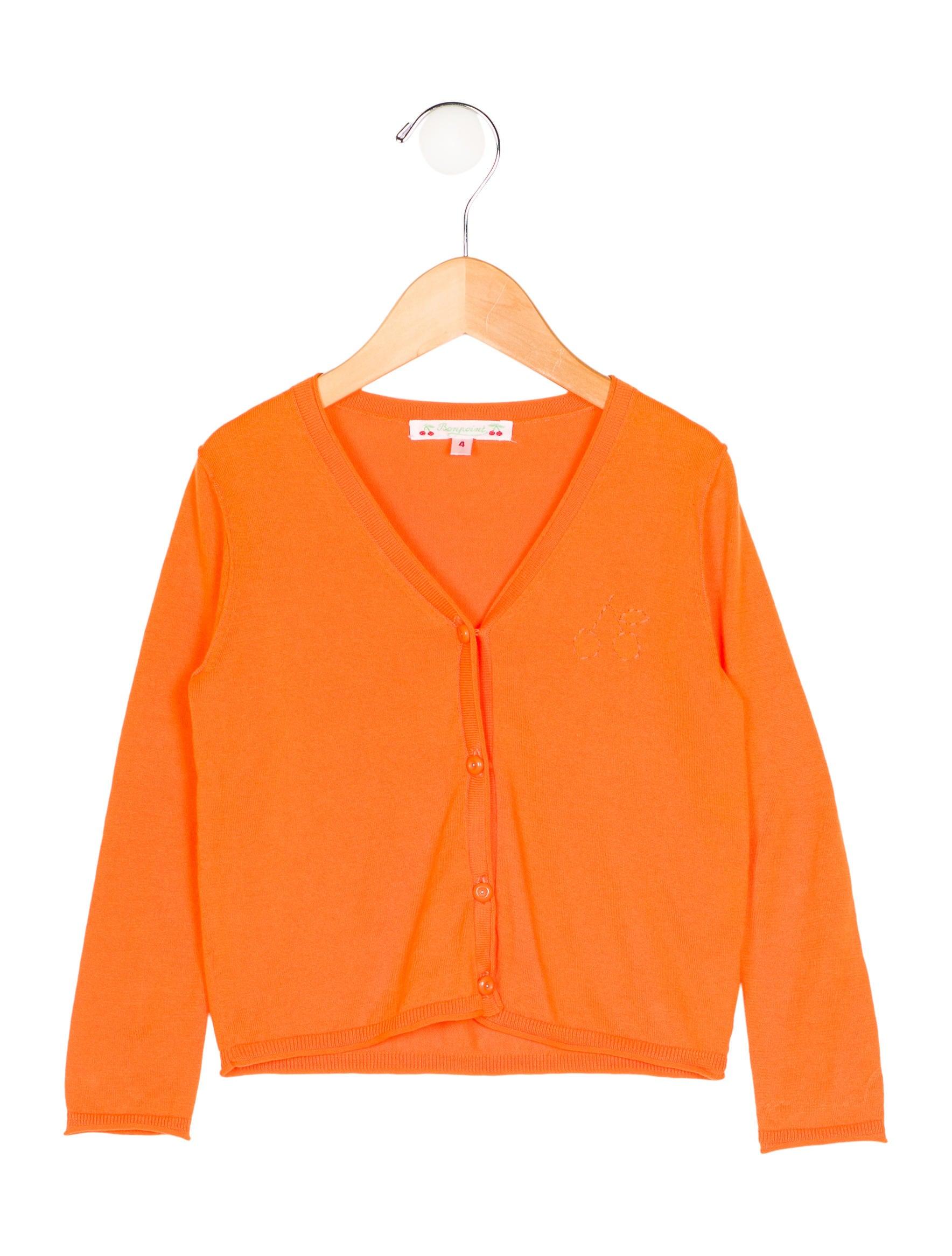 Bonpoint Girls' Embroidered Rib Knit Cardigan - Girls - WBONP23523 ...
