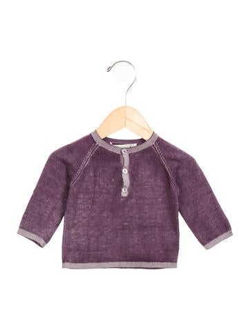 Bonpoint Girls' Distressed Knit Top None