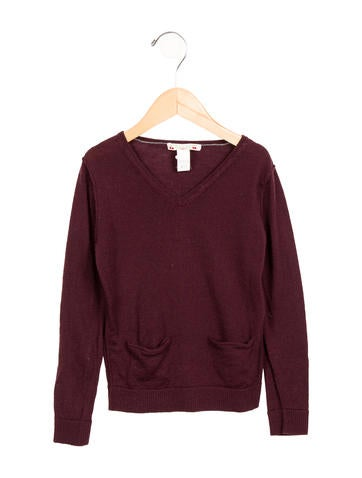 Bonpoint Girls' Wool Long Sleeve Top None