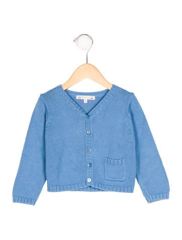 Bonpoint Girls' Rib Knit V-Neck Cardigan None
