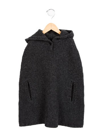 Bonpoint Girls' Hooded Wool Cape None