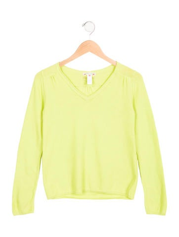 Bonpoint Girls' V-Neck Knit Sweater w/ Tags None