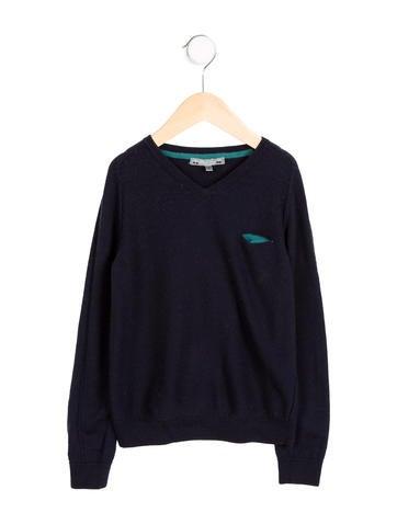 Bonpoint Boys' Knit V-Neck Sweater None