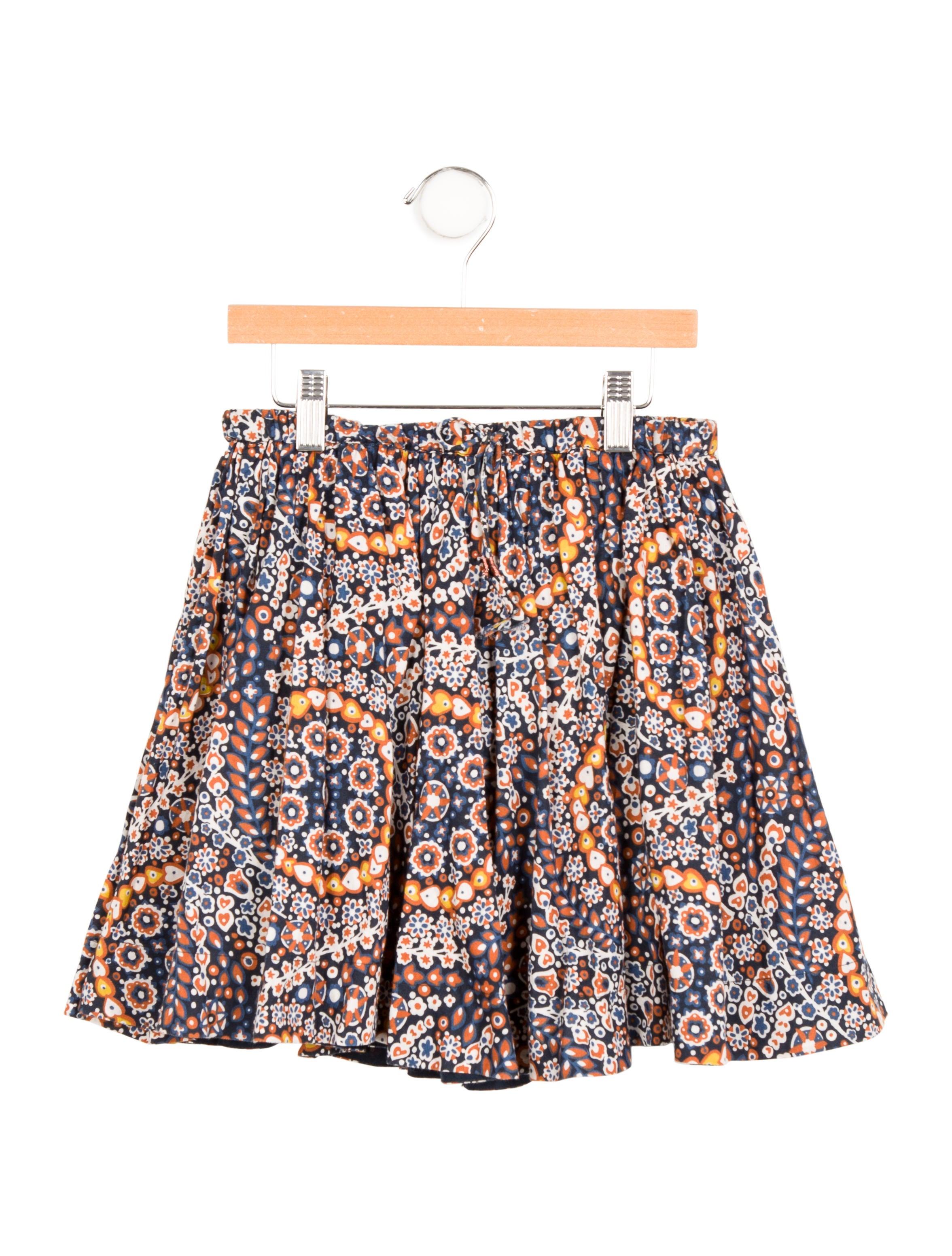 Floral Print Mini Skirt 61