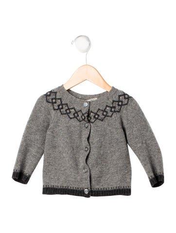 Bonpoint Girls' Intarsia Wool Cardigan None