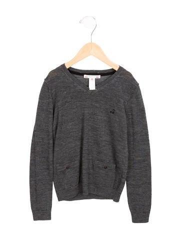 Bonpoint Girls' Wool V-Neck Sweater None
