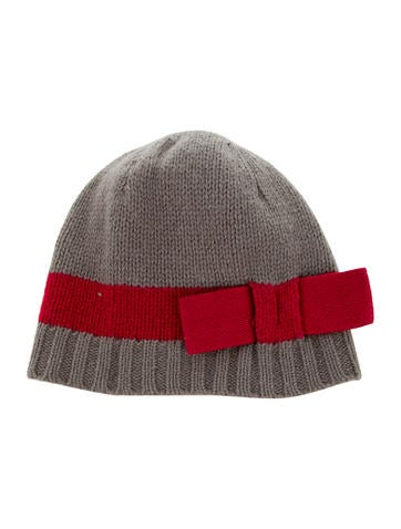 Bonpoint Girls' Wool Bow-Accented Beanie None