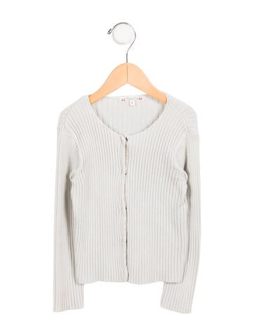Bonpoint Girls' Rib Knit Cardigan None