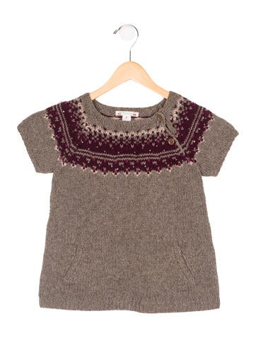 Bonpoint Girls' Short Sleeve Knit Top None