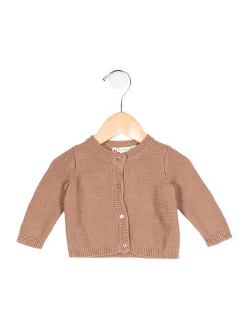 Bonpoint Girls' Wool Rib Knit Cardigan None