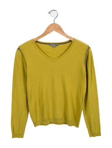 Bonpoint Boys' Long Sleeve V-Neck Sweater None