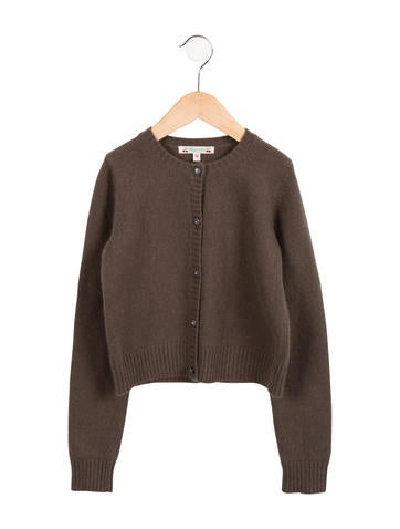 Bonpoint Girls' Knit Angora-Blend  Cardigan None