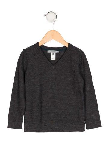 Bonpoint Boys' Wool V-Neck Sweater None