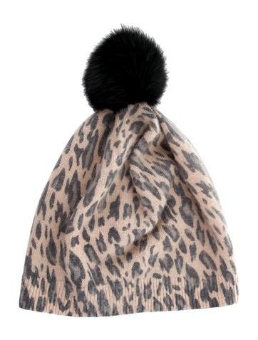 Bonpoint Girls' Leopard Pom-Pom Beanie None