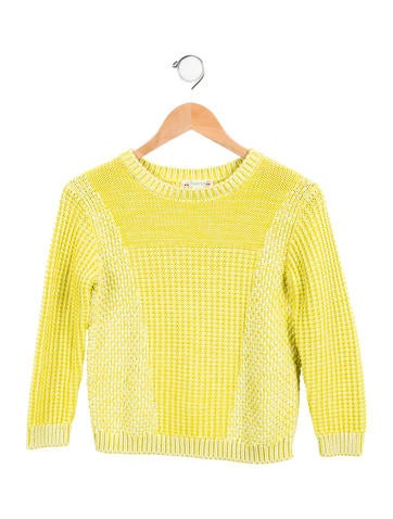 Bonpoint Girls' Knit Crew Neck Sweater None