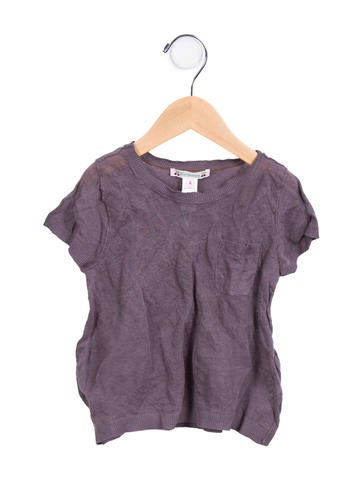 Bonpoint Girls' Knit Short Sleeve Top w/ Tags None