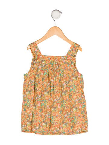 Girls' Floral Print Top