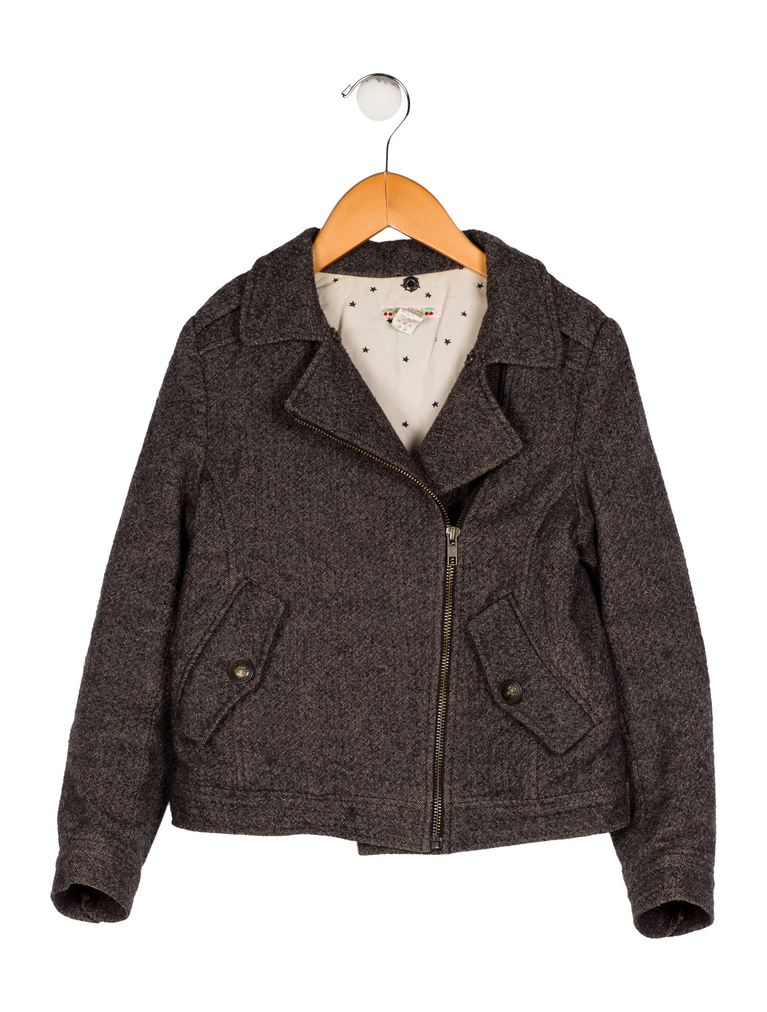 9c3a65448 Bonpoint Girls  Herringbone Wool Coat - Girls - WBONP30255