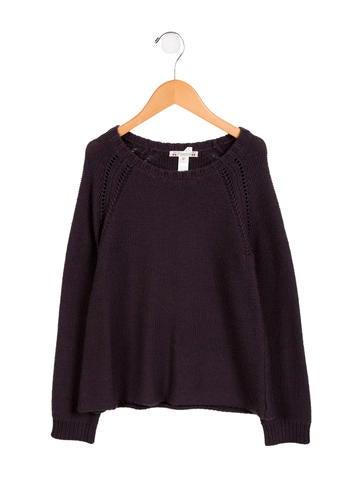 Bonpoint Girls' Wool Scoop Neck Sweater None