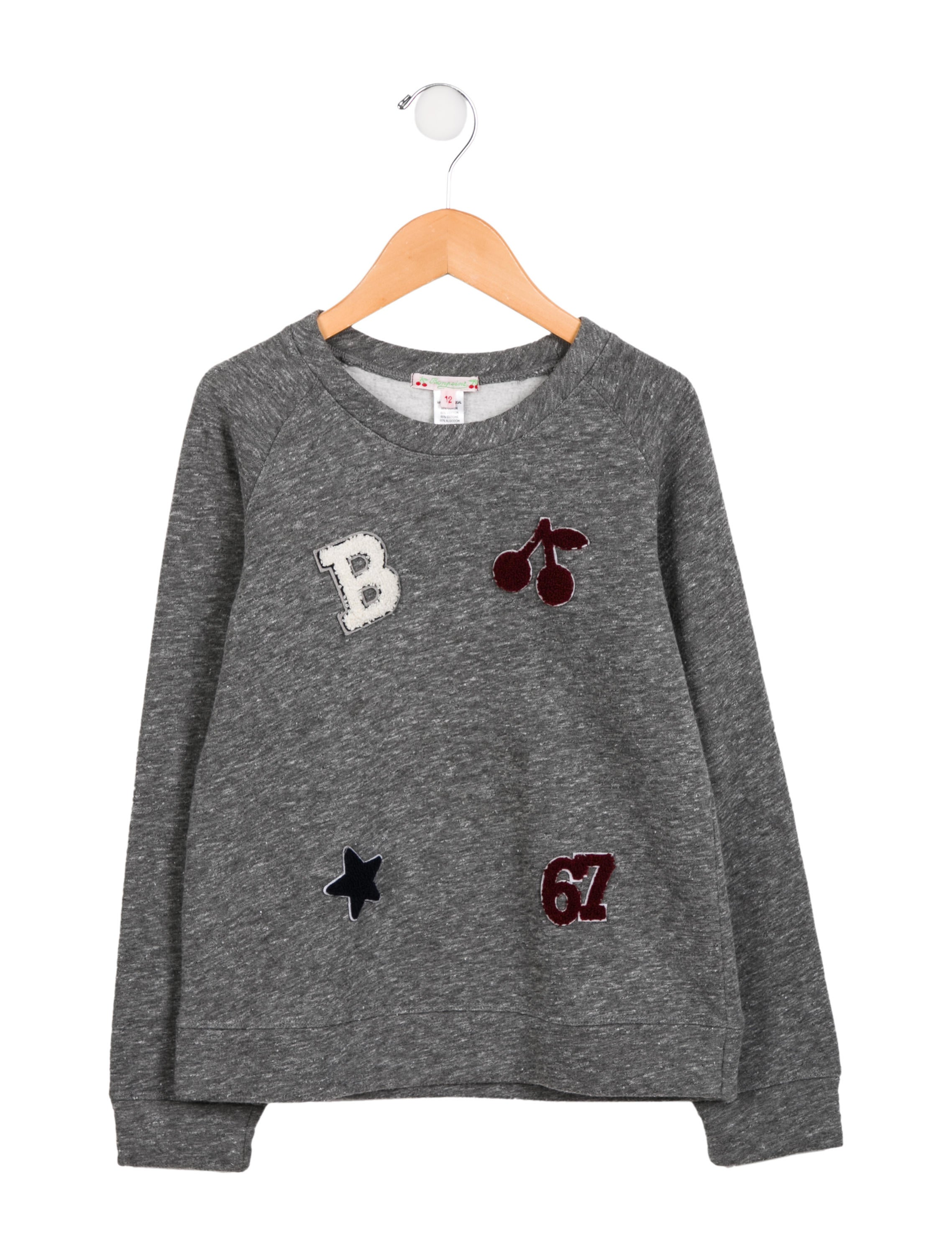 678d7492d Bonpoint Girls  Printed Crew Neck Sweatshirt - Girls - WBONP33845 ...