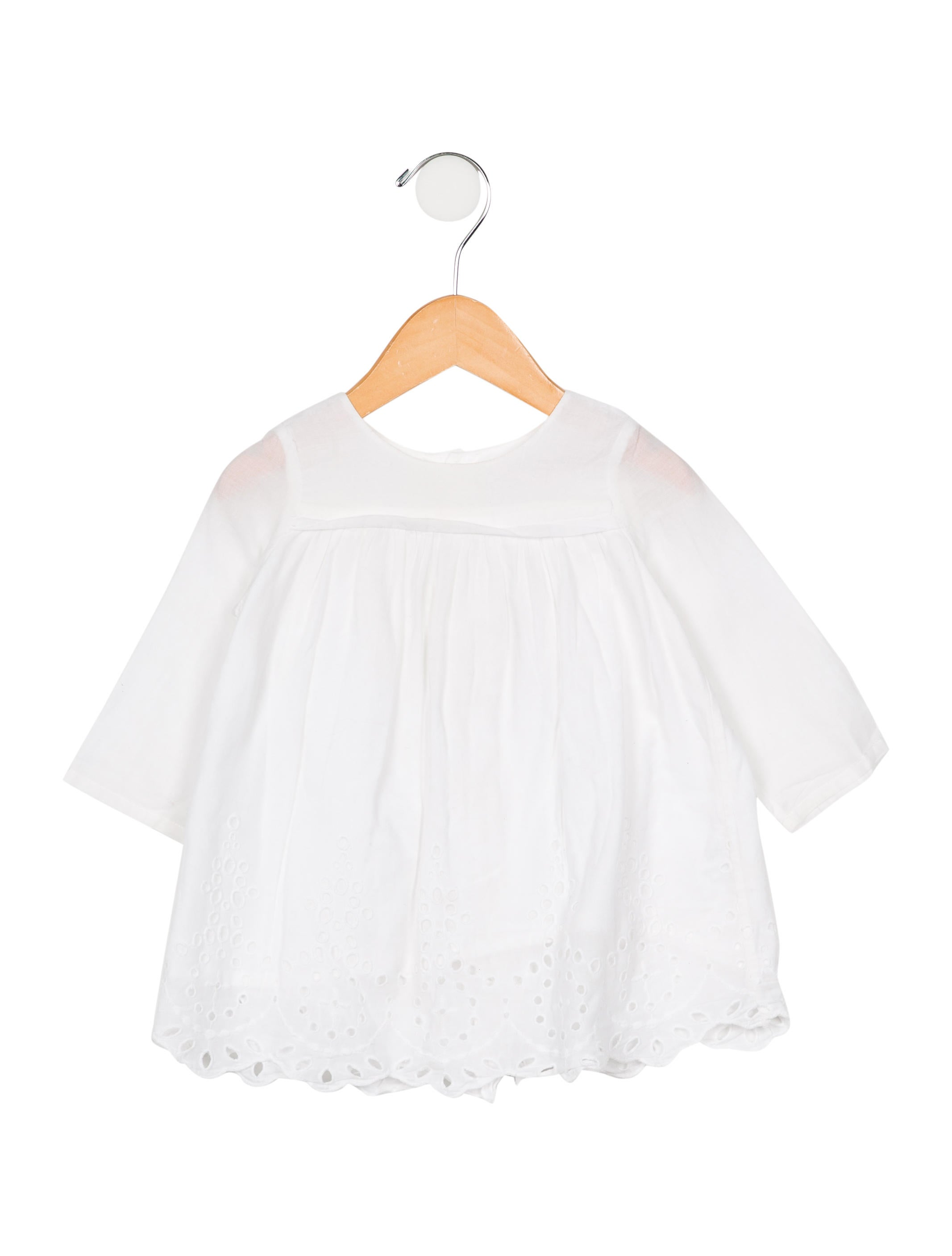 680b5a374a2c Bonpoint Girls  Broderie Anglaise Top - Girls - WBONP37638