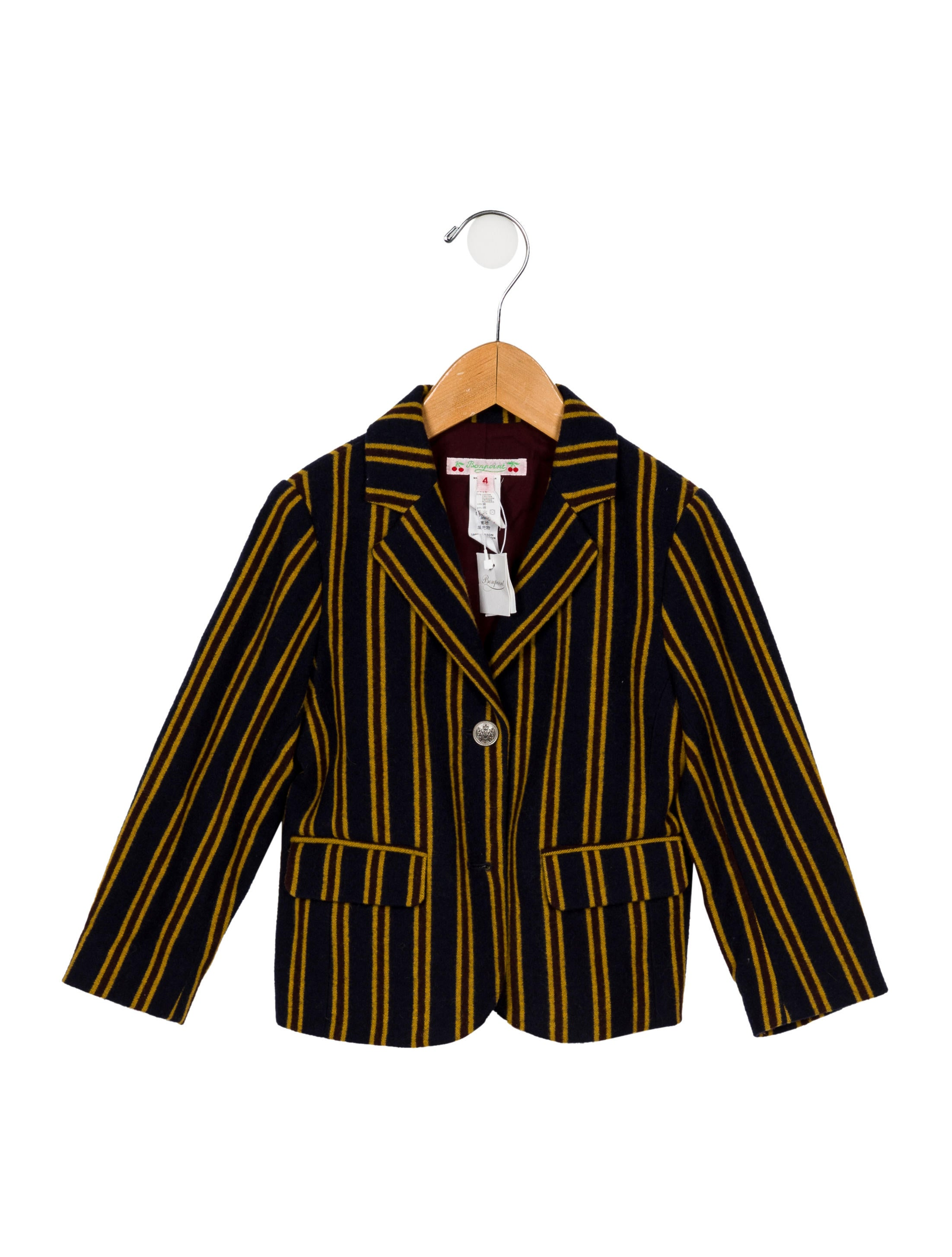 5a04a4a8457c Bonpoint Boys  Wool Striped Blazer w  Tags - Boys - WBONP37858