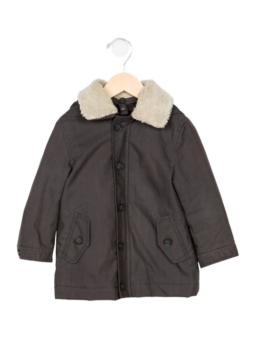 bc59a9720 Bonpoint Boys' Hooded Faux Shearling Trim Coat - Boys - WBONP40951 ...