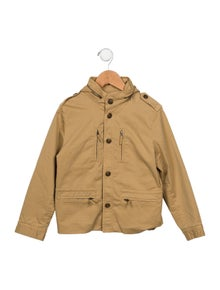 Bonpoint Boys' Hooded Utility Jacket
