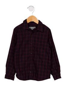 Bonpoint Boys' Tartan Button-Up Shirt