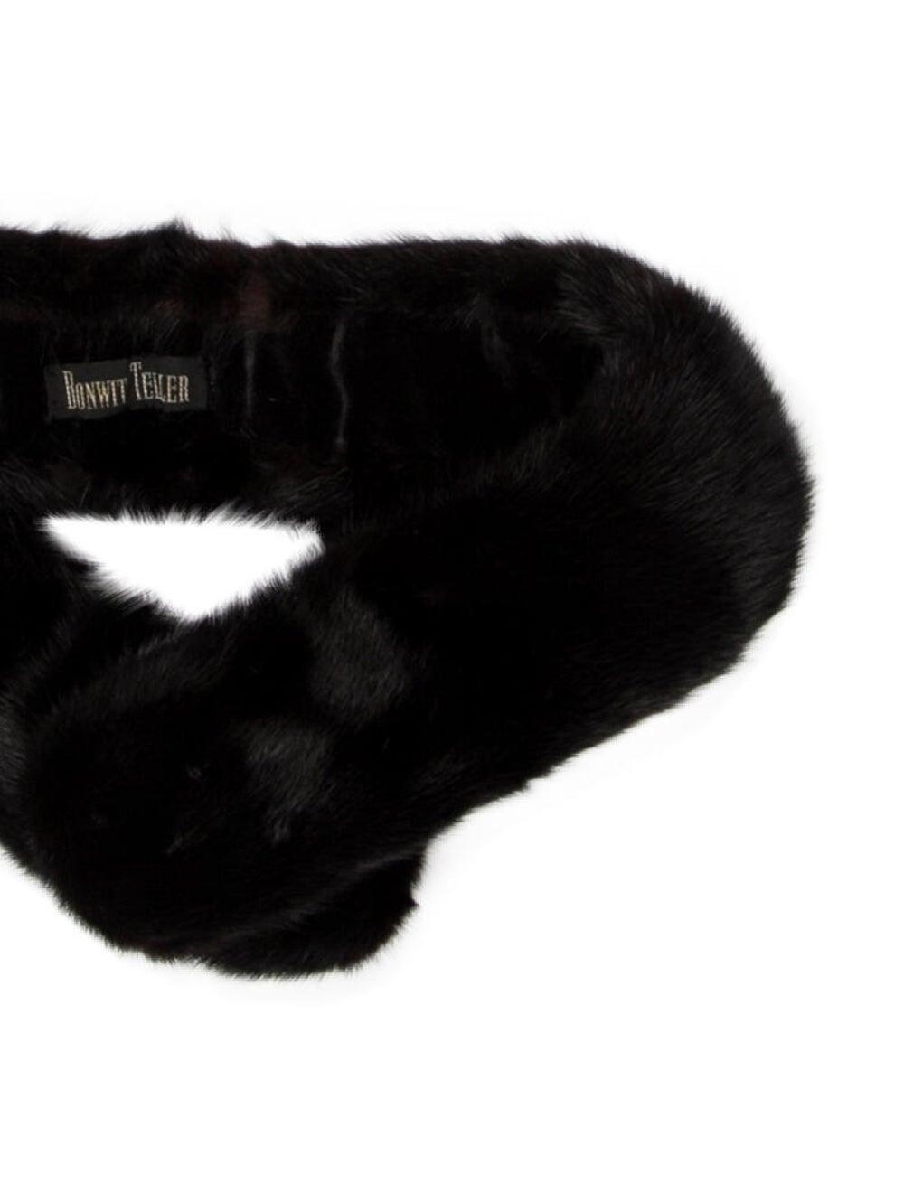 Bonwit Teller Mink Fur Scarf Black - image 2