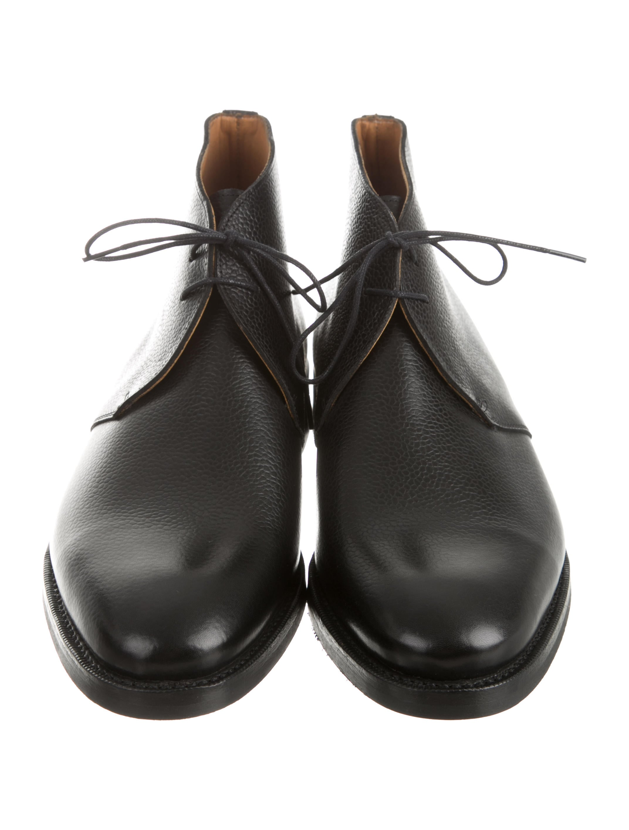 Bow-Tie Leather Harvey Chukka Boots w/ Tags - Shoes - WBOWT20010 ...