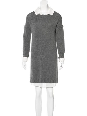 Brochu Walker Wool Knee-Length Dress None