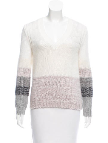 Brochu Walker Wool V-Neck Sweater w/ Tags None