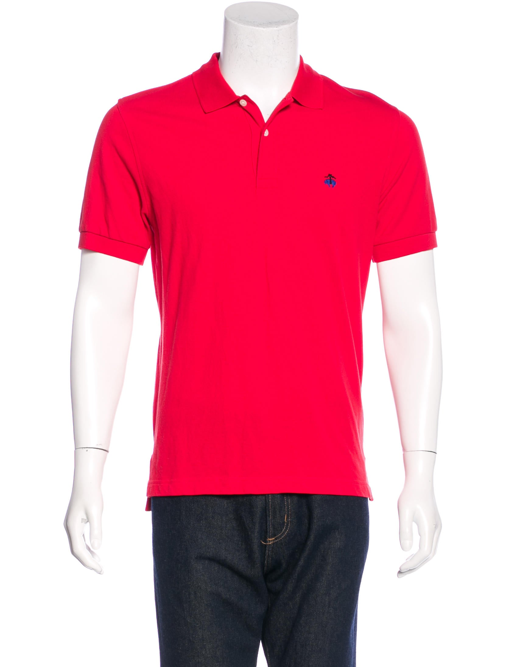 Brooks brothers embroidered piqu polo shirt clothing for Polo shirts with embroidery