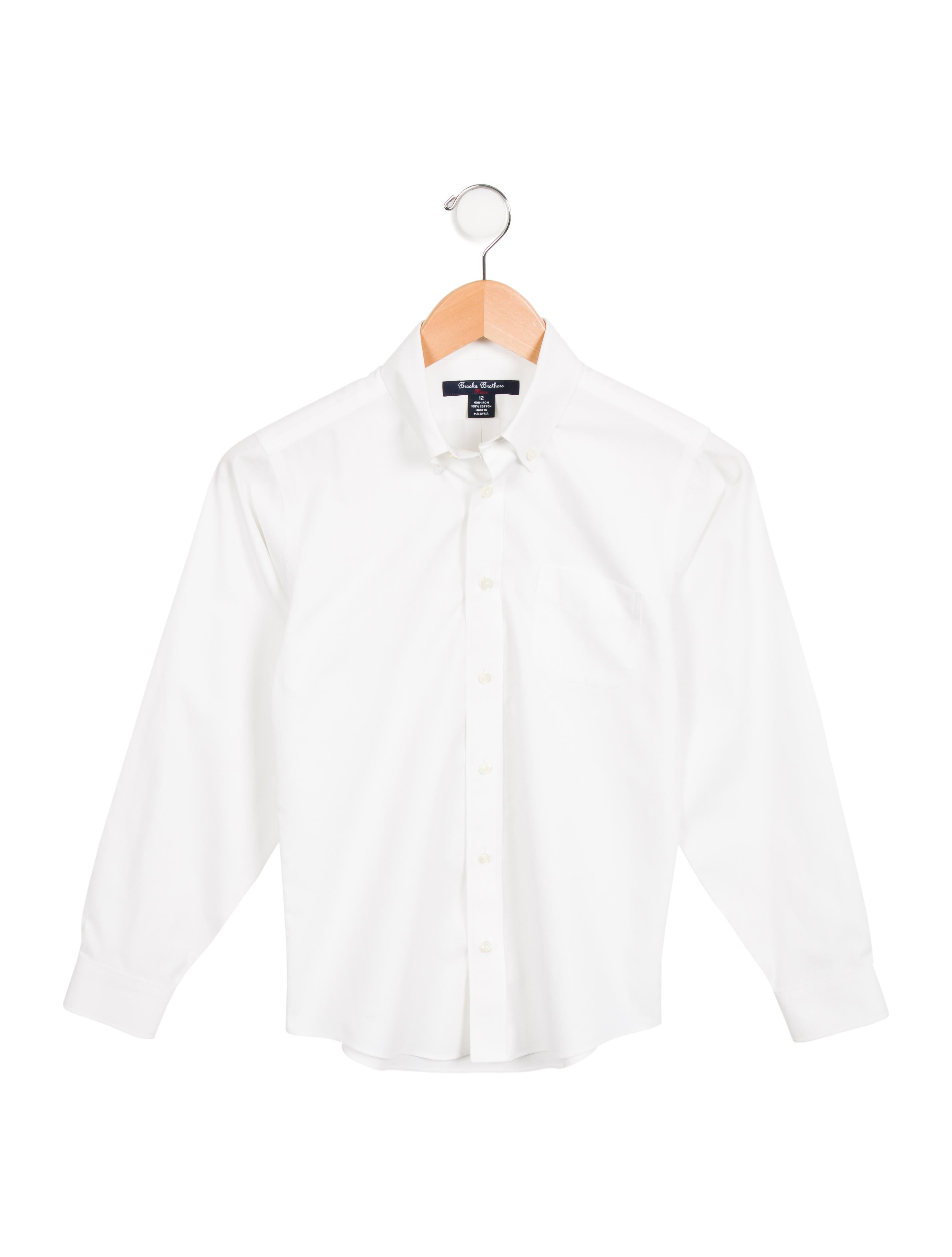 Brooks brothers boys 39 pointed collar button up shirt for Brooks brothers boys shirts