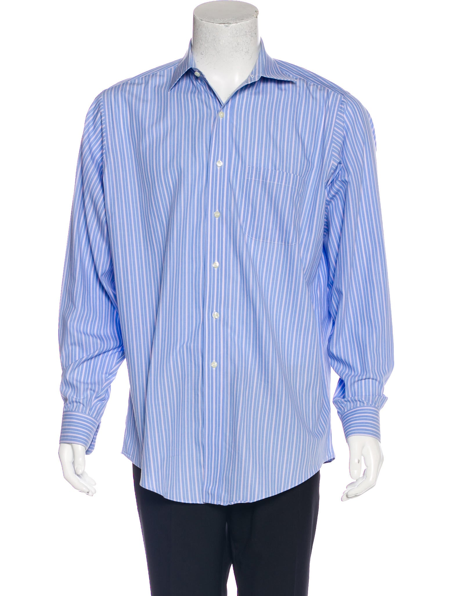 Brooks brothers traditional fit striped woven shirt for Brooks brothers dress shirt fit