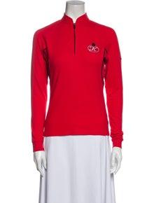 Burberry Golf Mock Neck Long Sleeve Sweatshirt